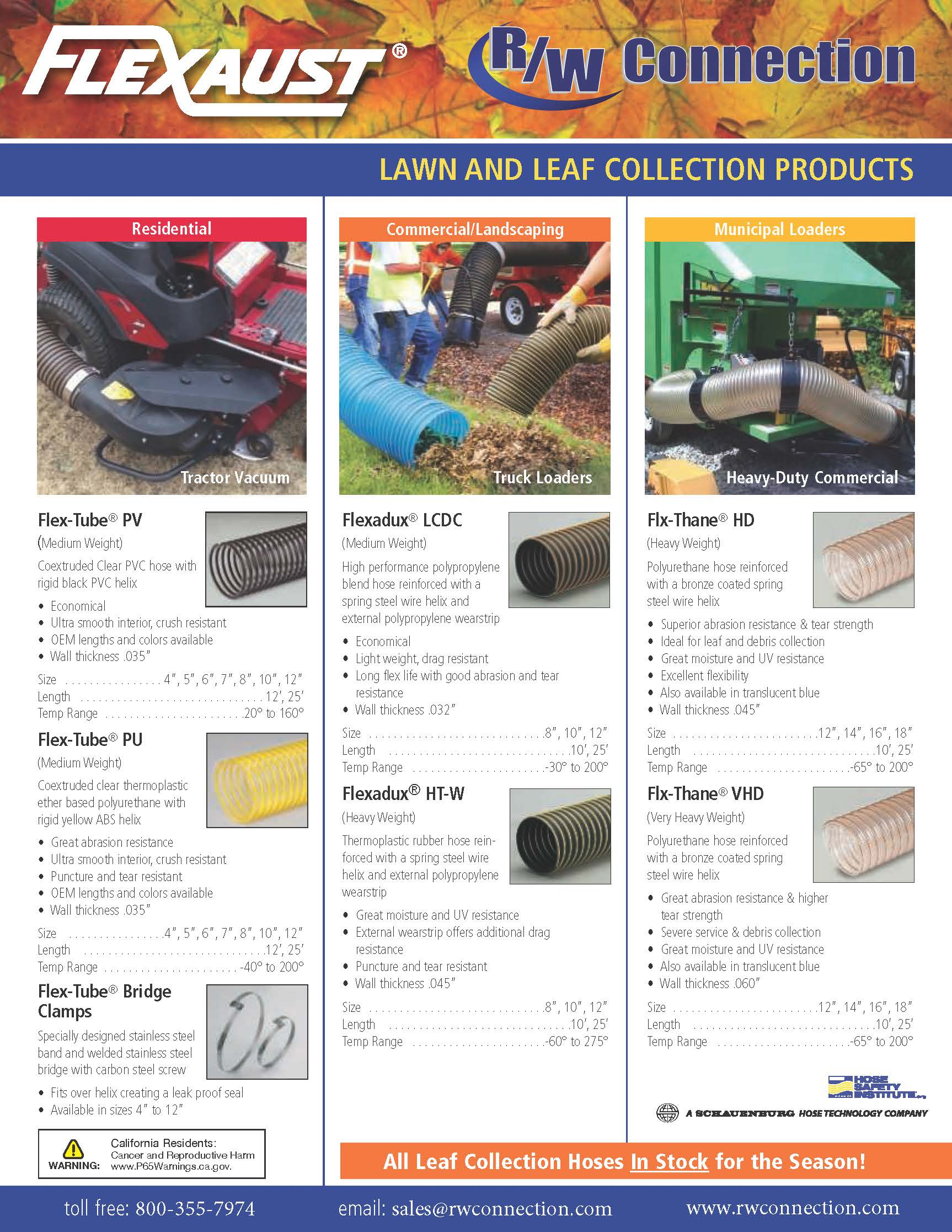 FLEXAUST Lawn and Leaf Collection Products
